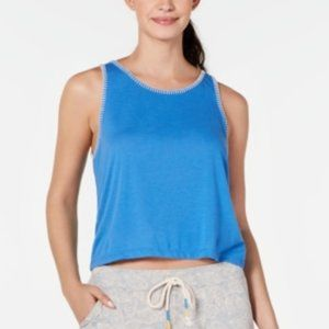 Jennifer Moore Plus Size Sleepwear Sleep Tank-Blue